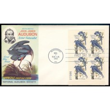 1241 M016 National Audubon Society; Plate Block of 4 - 27586 LL