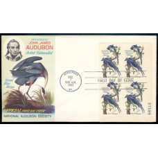 1241 M016 National Audubon Society; Plate Block of 4 - 27586 LR