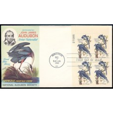 1241 M016 National Audubon Society; Plate Block of 4 - 27586 UL