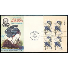 1241 M016 National Audubon Society; Plate Block of 4 - 27588 UR