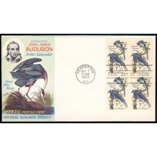 1241 M016 National Audubon Society; Block of 4