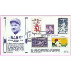 2046 WC107 Babe Ruth, FIRST, Combo #855, 937, 1263, 1381, ONE MADE