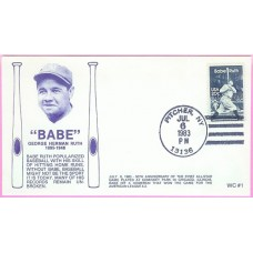 2046 WC122 Babe Ruth, FIRST, UO Pitcher, NY