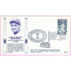 2046 WC109 Babe Ruth, FIRST, UO Washington, DC Smithsonian Stati