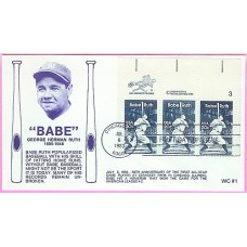 2046 WC104 Babe Ruth, FIRST, Combo ZCS Singles