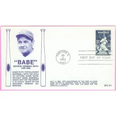 2046 WC101 Babe Ruth, FIRST, FDOI mc