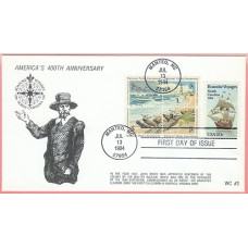 2093 WC212 Roanoke Voyages, Combo #1451a Cape Hatteras (6 made)