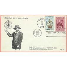 2093 WC213 Roanoke Voyages, on #1097 Lafayette FDC (3 made)