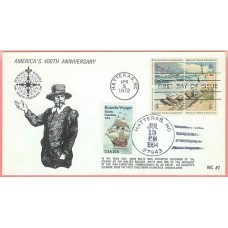 2093 WC214 Roanoke Voyages, UO Hatteras, NC on #1451a FDC