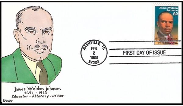 2371 Kribbs Kover; hpd; 30 made; James Weldon Johnson