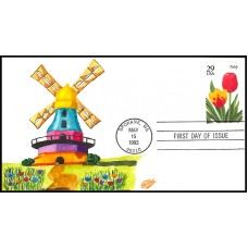 2762 Cullen Ray; hdn hpd; Tulip Flower, Windmill