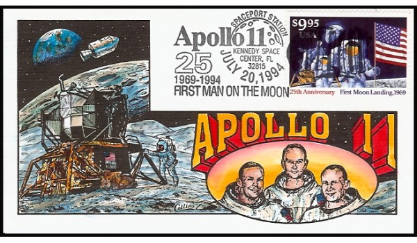 2842 Collins; hpd; $9.95 Express Mail - Moonlanding