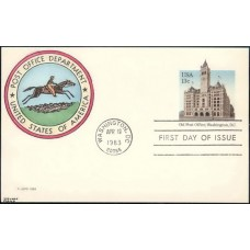 UX099 Kribbs Kover; hpd; 43 made; Old Post Office, Washington, DC