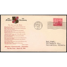 0736 P16 Maryland Commemorative Association; First; with enclosure