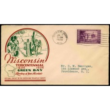 0739 P22b Green Bay Philatelic Society; First; With Joannes Bros. Co. Advertising
