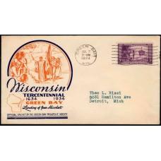 0739 P22f Green Bay Philatelic Society; First