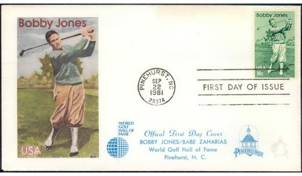1933 World Golf Hall of Fame; First Cachet
