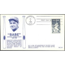 2046 WC102 Babe Ruth, FIRST, FDOI hc