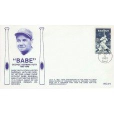 2046 WC101  Babe Ruth, FIRST, FDOI mc *Missing slogan bars*