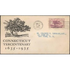 0772 P25 Travelers Insurance Company; Connecticut Tercentenary; Hartford, CT; First