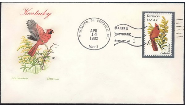 1969 Farnam / Double A Cachets; Wilmington, DE Greenville Branch MMP #1; with another stamp and Capi