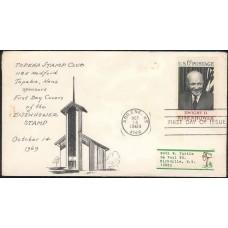 1383 Topeka Stamp Club; Abilene, TX; President Dwight Eisenhower