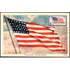 1094 NIM Asheville Post Card Company; PPC; Old Glory Flag