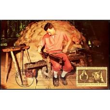 1456 Walter H. Miller & Company; PPC; Colonial American Craftsmen - Glassmaker