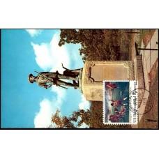 1563 Tri-Con Colour; PPC; Minuteman Statue; Concord, MA