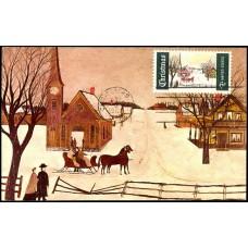 1384 NIM CurrteichColor; PPC; Winter Sunday in Norway, ME