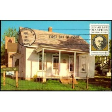 1405 CurrteichColor; PPC; Poet Edgar Lee Masters Memorial Home, Petersburg, IL
