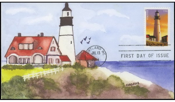 #4791 cagarts; C1; New England Lighthouses - Portland Head Light, Maine