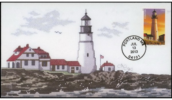 #4791 cagarts; C2; New England Lighthouses - Portland Head Light, Maine