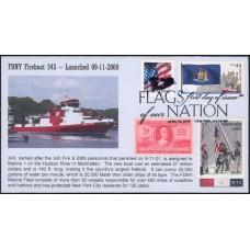 #4310 FOON IV; C6; New York; FDNY Fireboat #343; Combo